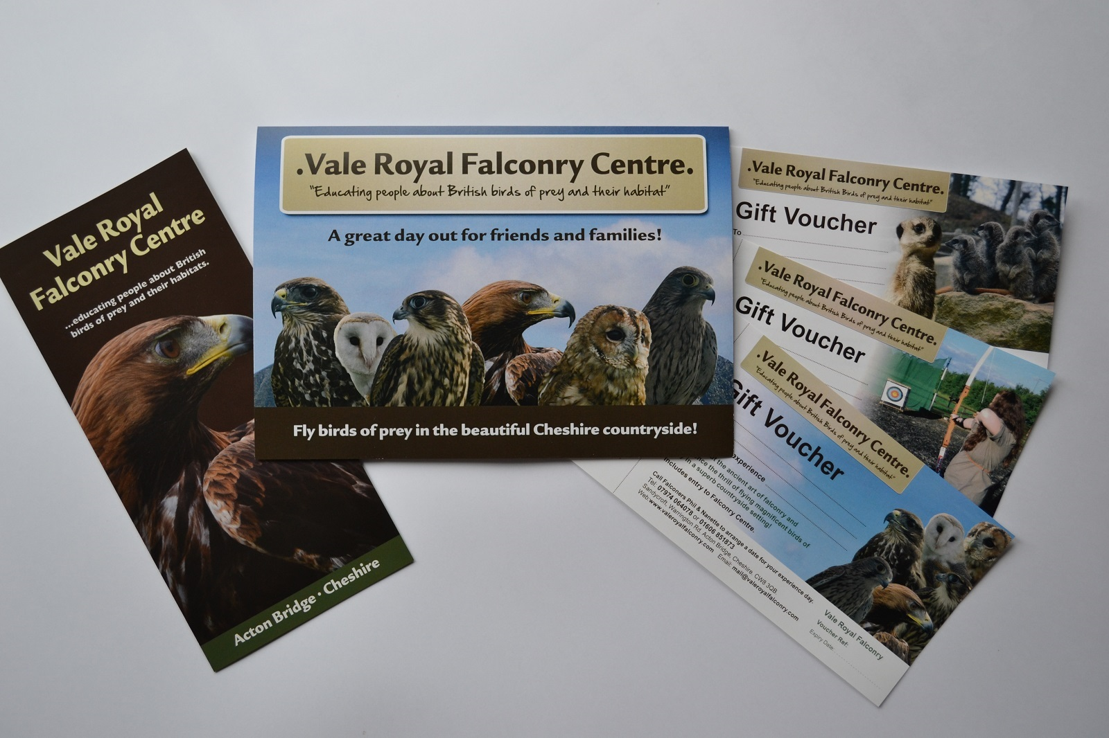 d3619c6f4ac Gift vouchers are supplied in a lovely card for you to write in your  personal message! A falconry experience makes the ideal gift for anyone of  any age.